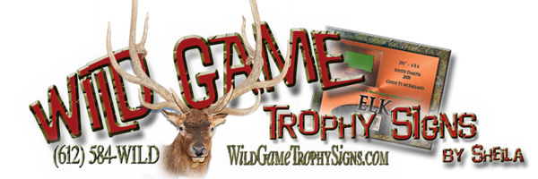 Wild Game Trophy Signs Logo